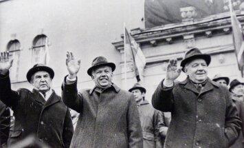 Nõukogude Eesti juhile Karl Vainole (keskel) ei tehtud 1970-ndate lõpusega 1980-ndatel ainsatki atentaati, teab tema toonane ihukaitsja.