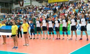 Võrkpalli Euroopa liiga Eesti - Poola 2. mäng