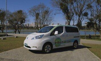 See on Nissani bioetanoolil töötav elektrisõiduk
