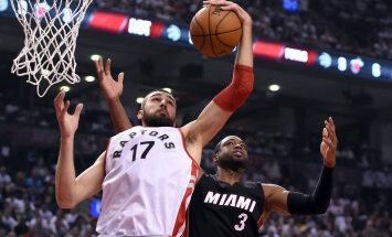 VIDEO: Valanciunas vedas Raptorsi lisaajal võidule, seeria Heatiga viigis