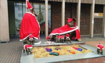 FOTO: Võrus said sead selga jõulurüüd