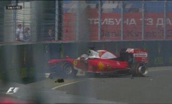 VIDEO: Kvjat lõpetas Sotšis Vetteli võistluse, sõites kaks korda järjest eksmaailmameistrile tagant sisse