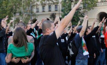 Ungari paremäärmuslased Budapestis oktoobris 2016
