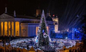 ФОТО. Вильнюс снова удивил: на главной площади литовской столицы установили оригинальную рождественскую елку