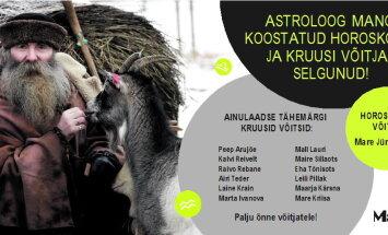 Astroloog Mangi koostatud horoskoobi ja kruusi võitjad on selgunud!