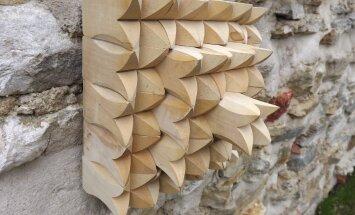 Tulbikujulisi puitdetaile kokku liimides saab neist teha seinakompositsiooni, millevõib hiljem ka sobivattoonipeitsida.