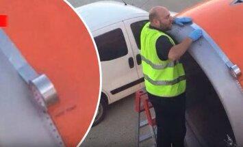 В Амстердаме работник аэропорта отремонтировал самолет клейкой лентой