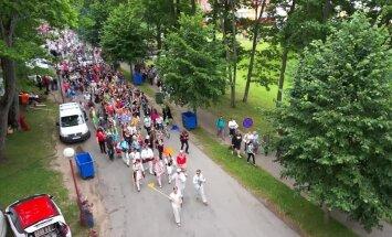 AEROVIDEO: Viljandi folgi esimesed päevad linnulennult