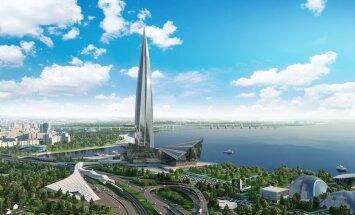 """Небоскреб """"Лахта-центр"""" в Санкт-Петербурге стал самым высоким зданием в Европе"""