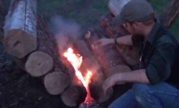 VAATA, kuidas ehitada lõket, mis põleb ilma puid lisamata 14 tundi järjest
