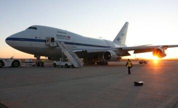 SOFIA on Boeing 747SP, mille pardal on üle 15 tonni kaaluv 2,5-meetrise diameetriga infrapunateleskoop.