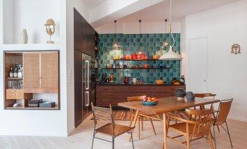 Skandinaavia disainiklassikast inspireeritud värviküllane kodu