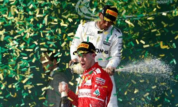 FOTOD: Põnev algus F1 hooajale: Ferrari boksitaktika mängis Austraalias võidu Sebastian Vettelile