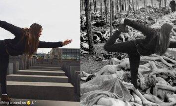 Танцы на костях: возмутительные селфи туристов на фоне мемориала жертвам холокоста