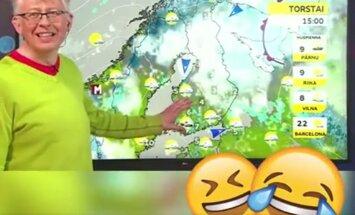 VIDEO: Ilmaennustaja ei suuda kevadisest lumesajust rääkides naeru pidada