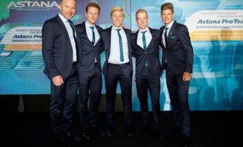 Astana Pro Teami taanlased meeskonna esitlusel