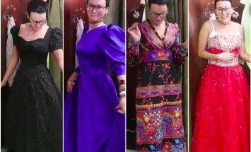 ВИДЕО DELFI: Журналист Delfi купила платье на президентский прием в гуманитарке