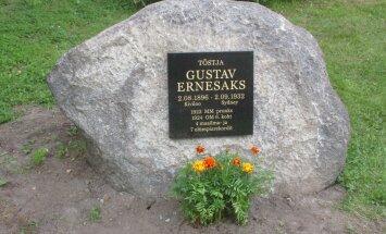 Tõstja Gustav Ernesaksale avati 120. sünniaastapäeval mälestuskivi