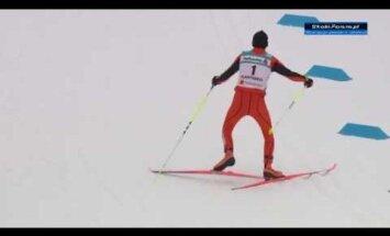 Venezuela suusataja Adrian Solano nägi elus esimest korda lund Lahti MM-il