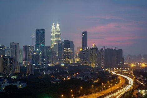 Kagu-Aasia poole vaataval Eesti ärirahval soovitab Hando Sinisalu esimene samm teha Malaisias. Fotol Malaisia pealinn Kuala Lumpur