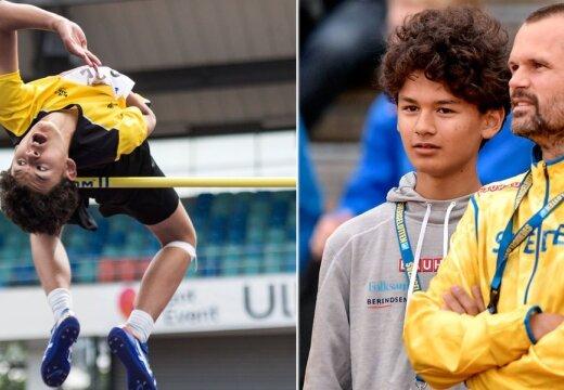 Legendaarse Stefan Holmi pojast tuleb veel vägevam kõrgushüppaja? 12-aastane Melwin Holm püstitas omavanuste seas maailmarekordi
