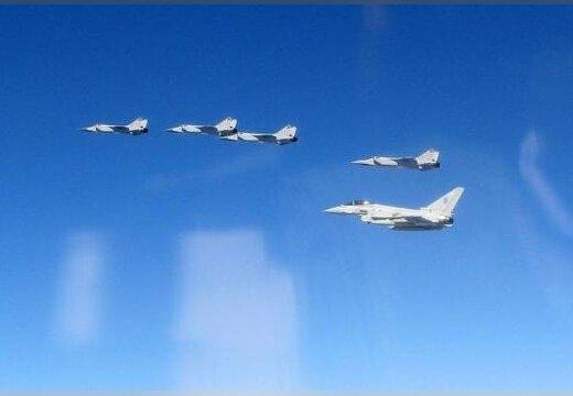 ФОТО: Британские истребители наблюдали за российскими самолетами над Эстонией
