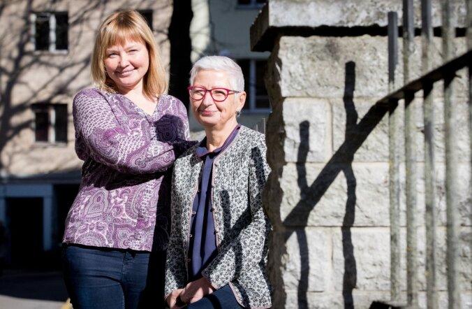 Pille Tsopp (vasakul) ja Margo Orupõld peavad eile toimunud ümarlauda kauaoodatud murdepunktiks.
