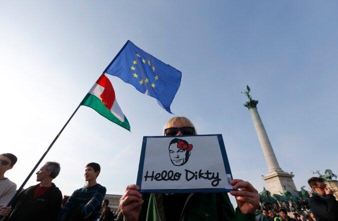 Möödunud kolmapäeva meeleavaldus Budapestis