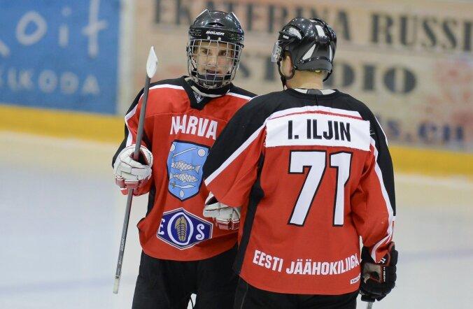 Jäähoki EM PSK Narva vs Panter 10.10.2015