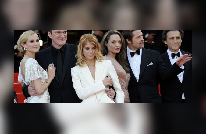 Diane Kruger, Quentin Tarantino, Melanie Laurent, Angelina Jolie, Brad Pitt, Lawrence Bender