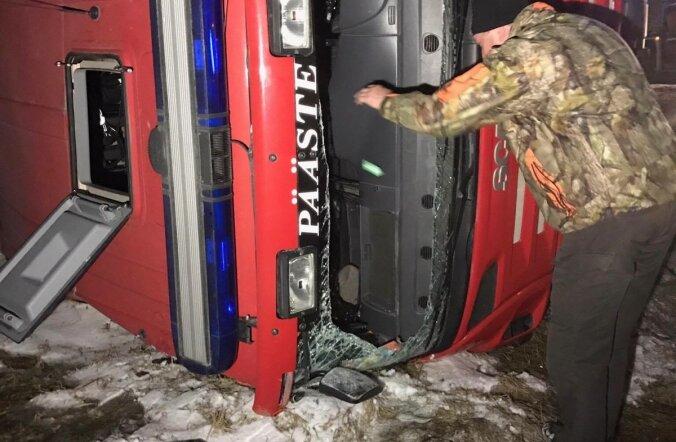 Päästeauto sattus avariisse
