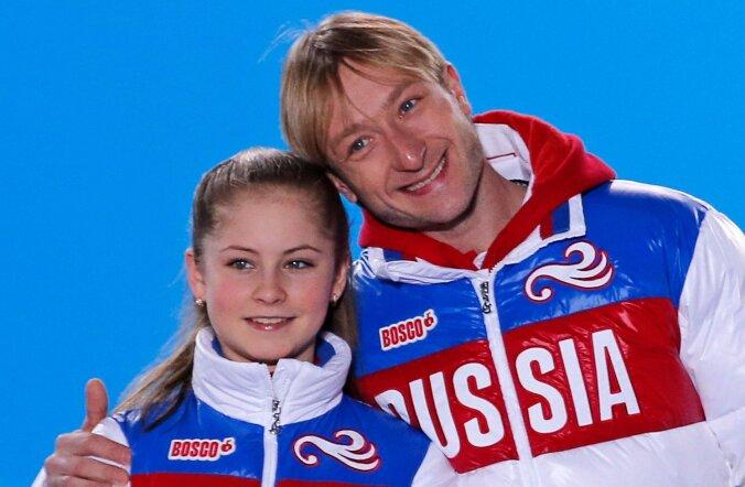 Julia Lipnitskaya ja  Evgeny Plyushchenko