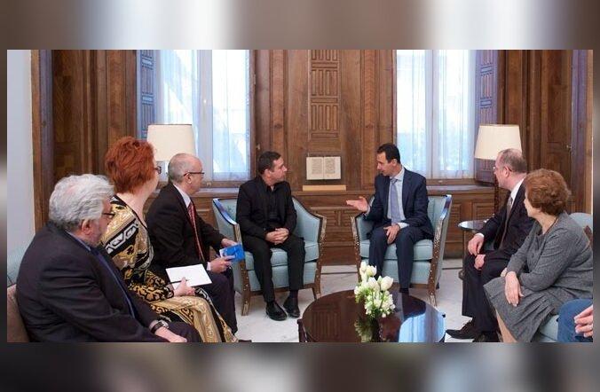 FOTO: Bashar al-Assad räägib Yana Toomile Euroopa riikide ekslikust poliitikast Süüria suhtes