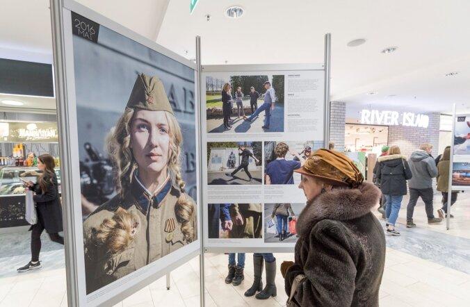 Viru keskuses soditi ära pronkssõduri auvahtkonda kujutavad pressifotod
