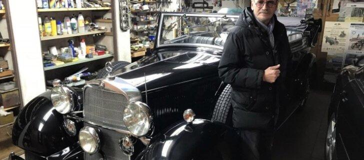 ФОТО: Житель Каунаса прячет в гараже эксклюзивный Mercedes-Benz — один из двух во всем мире