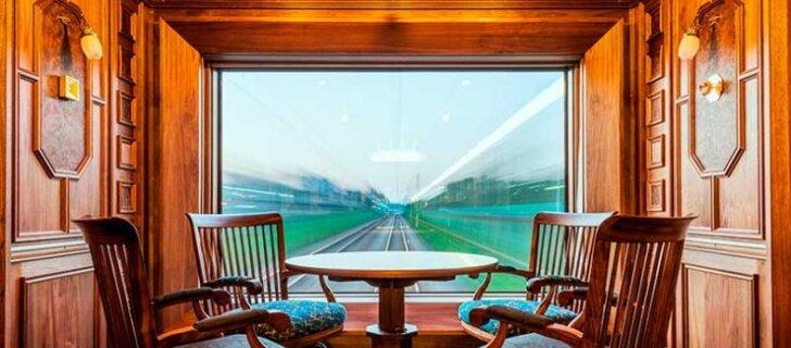 Видео. Камины и смотровые площадки: 7-звездочный поезд в Японии