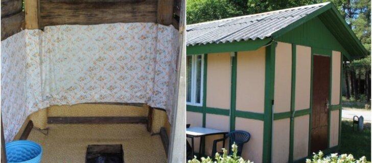Самый дешевый ночлег на литовском взморье: за 15 евро — 4 кровати и общий уличный туалет