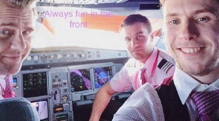 Как развлекаются пилоты: селфи на высоте 10 000 метров