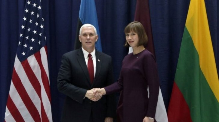 President Kersti Kaljulaid avaldas USA asepresidendile Mike Pence'ile tänu tugeva sõnumiga kõne eest.