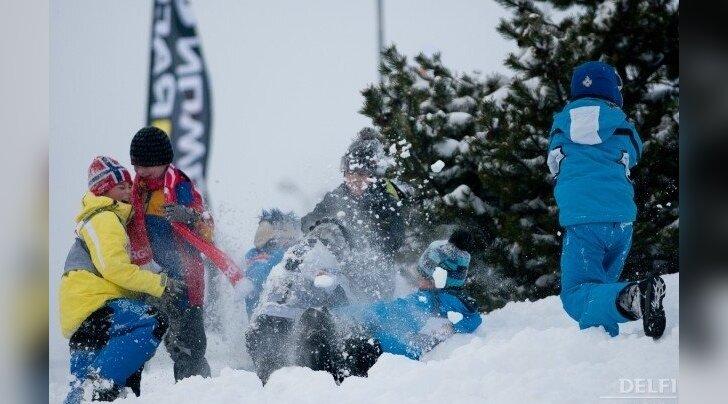 Otepää MK-etapi publik, lumesõda
