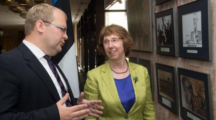 Catherine Ashtoni ja Urmas Paeti pressikonverents
