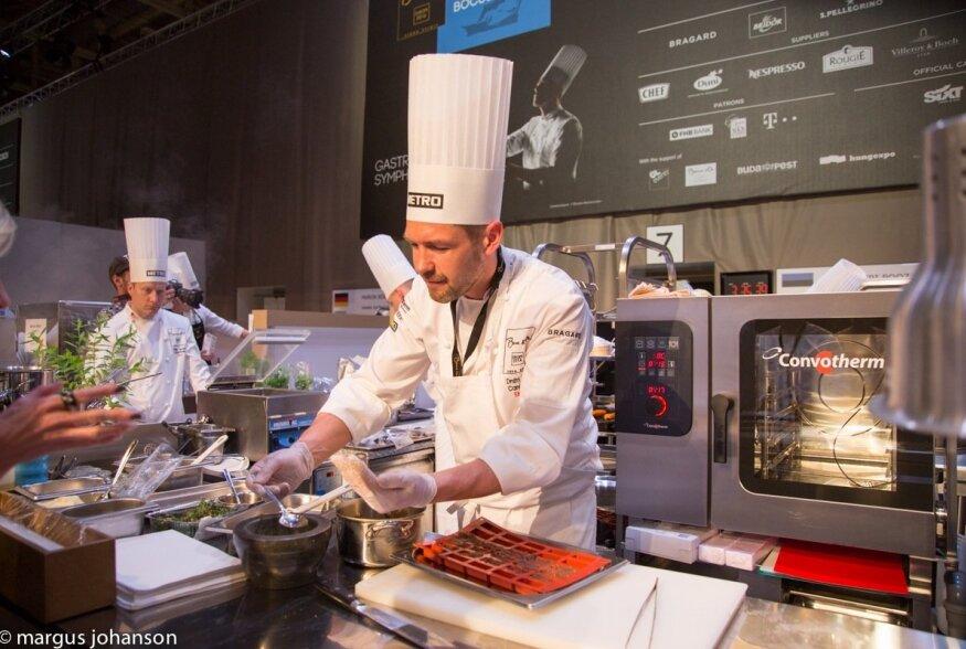 Bocuse d'Or poolfinaal Budapestis, kus restorani Farm peakokk Dmitri Rooz võitis kohae finaalis.
