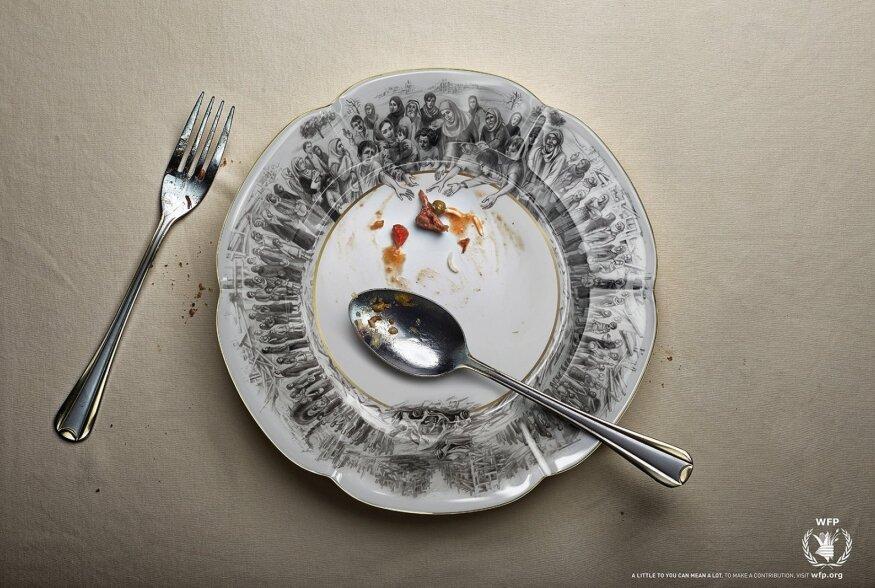FOTOD | Kuidas tõmmata tähelepanu näljahädale? Disaini taldrikud seda pidevalt meenutama