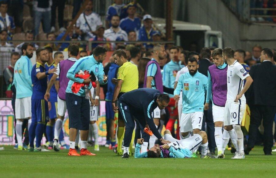 Страсти накаляются: матч Босния иГерцеговина— Греция закончился массовой потасовкой
