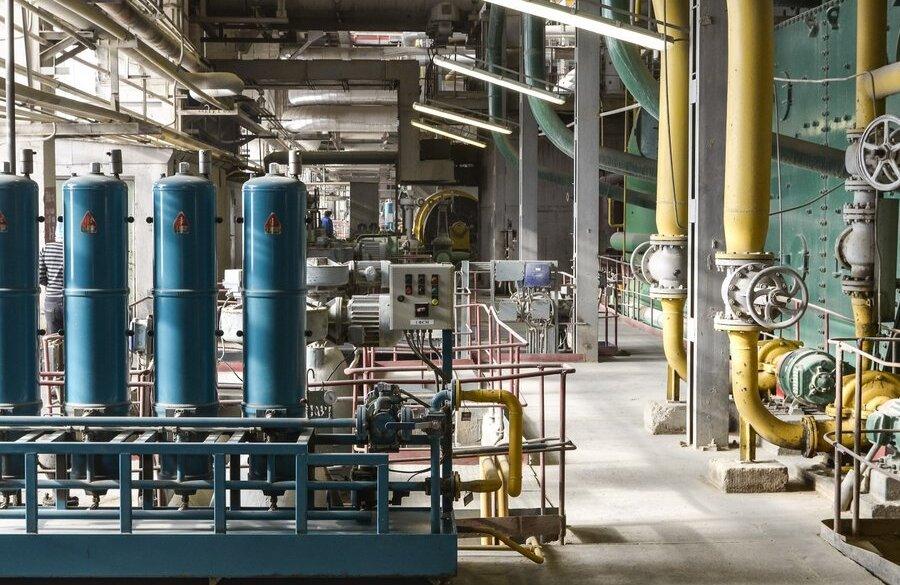 фото система ввода извести для улавливания серы из дымовых газов эстонской теплоэлектростанции