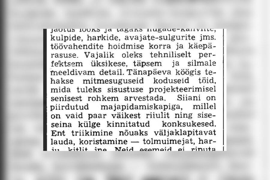 VANAD FILMIKAADRID 1976: Võimas ENSVs toodetud mööbli näitus hiiglaslike järjekordadega